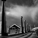 winter sky. hobart, tasmania by tim buckley   bodhiimages