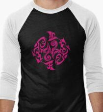 Zodiac Sign Pisces Pink Men's Baseball ¾ T-Shirt