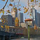 Evening, Melbourne, Australia, Collins Street skyline. by johnrf