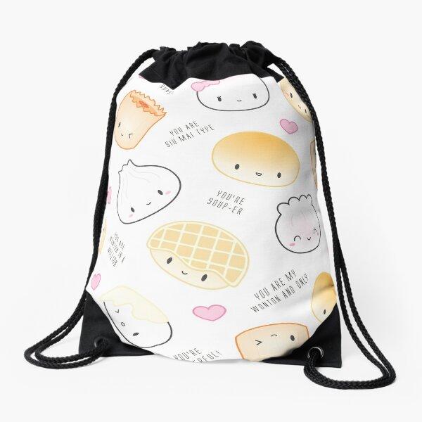 Cute Dimsum Puns Drawstring Bag