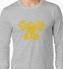 Zodiac Sign Taurus Gold Long Sleeve T-Shirt