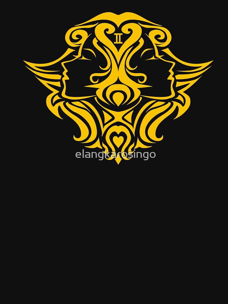 Zodiac Sign Gemini Gold by elangkarosingo