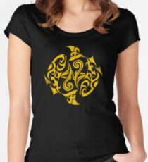 Zodiac Sign Pisces Gold Women's Fitted Scoop T-Shirt