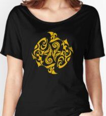 Zodiac Sign Pisces Gold Women's Relaxed Fit T-Shirt
