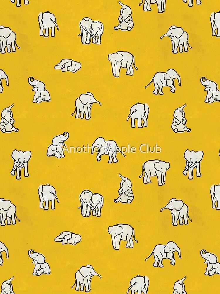 Indian Baby Elephants Yellow Pattern by estellef