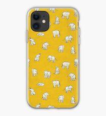 Indian Baby Elephants Yellow iPhone Case