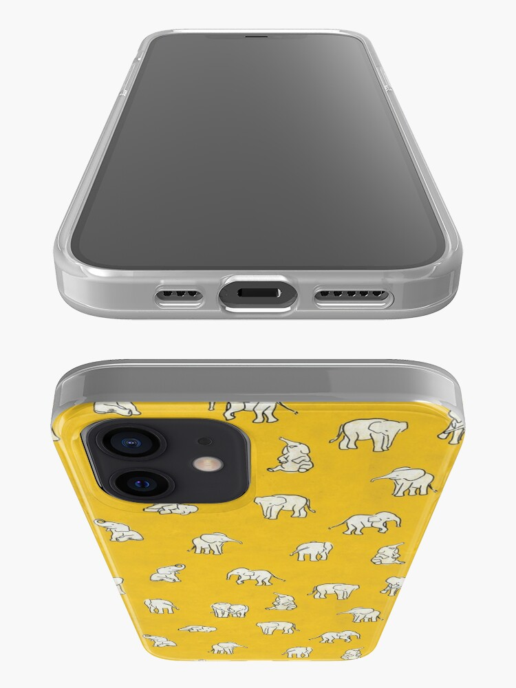 Alternate view of Indian Baby Elephants Yellow Pattern iPhone Case & Cover