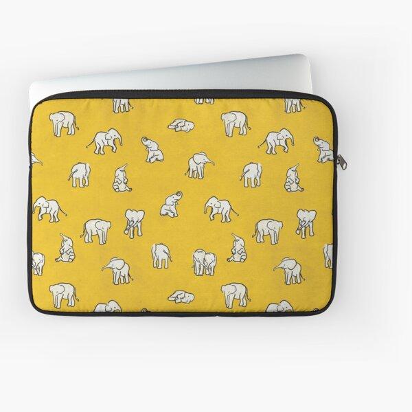 Indian Baby Elephants Yellow Pattern Laptop Sleeve