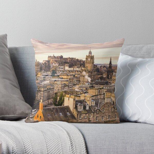Edinburgh Morning Throw Pillow