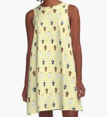 We Bare Bears Birthday Pattern A-Line Dress