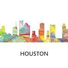 Houston, Texas Skyline WB1 von Marlene Watson