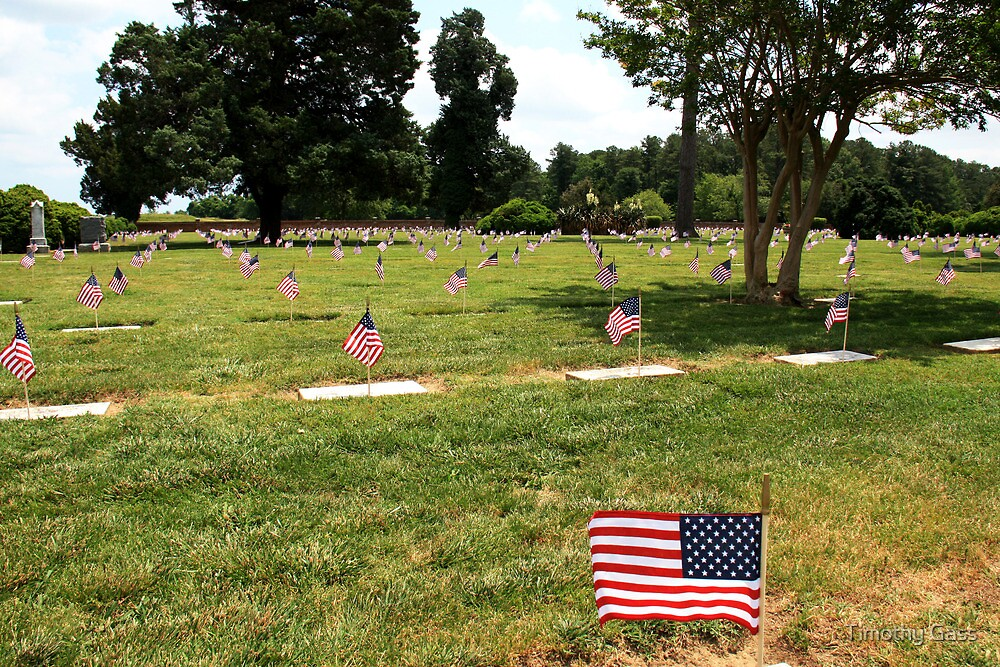 Yorktown National Cemetery by Timothy Gass