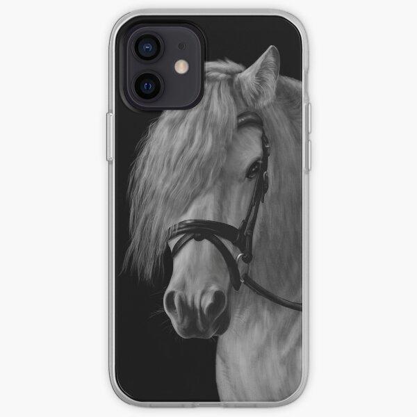 Grey gypsy vanner horse iPhone Soft Case