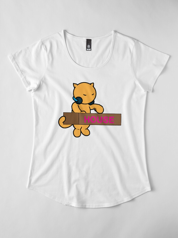 Alternate view of House Kitty Premium Scoop T-Shirt