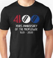 Mayflower Descendant - Mayflower Compact 400th Anniversary Slim Fit T-Shirt