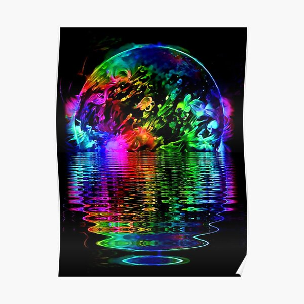 Blacklight Solar Reflections Poster