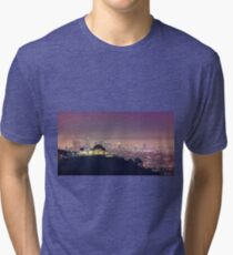 Los Angeles Cityscape Tri-blend T-Shirt