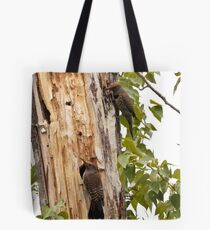 """Northern """"Red-Shafted"""" Flicker (pair) Tote Bag"""
