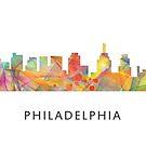 Philadelphia, Pennsylvania Skyline WB1 von Marlene Watson