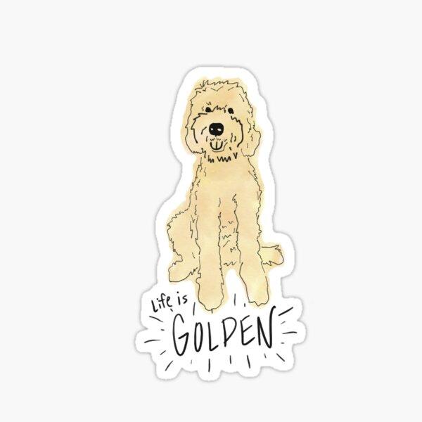 Life is Golden[Doodle] Sticker