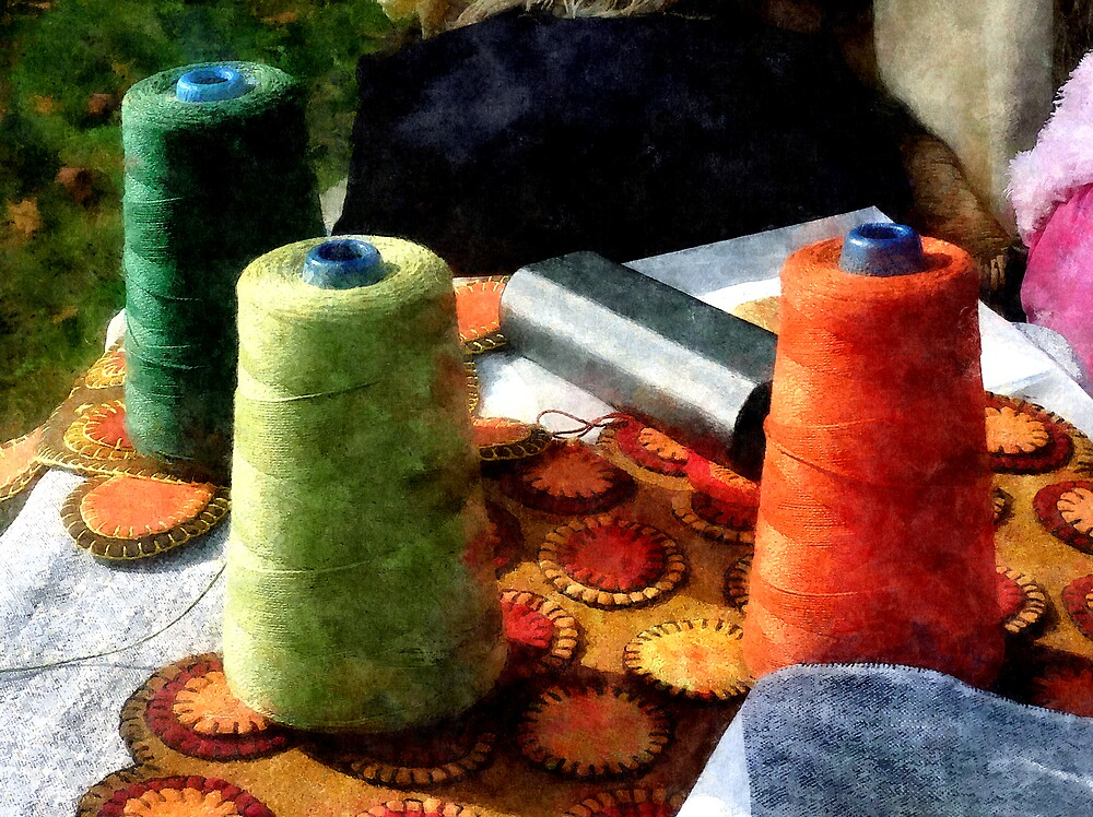 Large Spools of Thread by Susan Savad