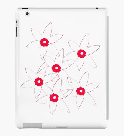 Red and White iPad Case/Skin