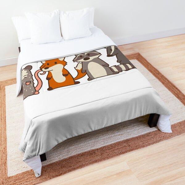 opossum, fox, raccoon and skunk forager friends Comforter