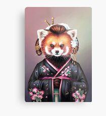 Lámina metálica Kimono de panda rojo
