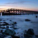 Fishing Pier Sunrise by Michael Mill