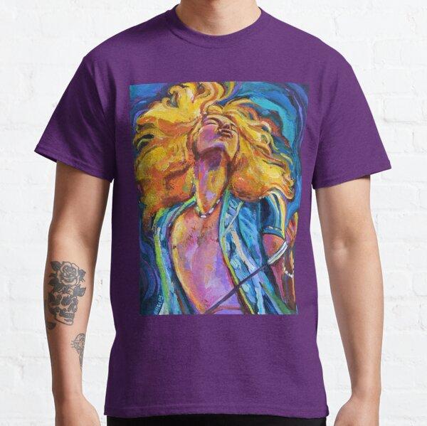 Robert Plant Wild Hair Portrait Classic T-Shirt