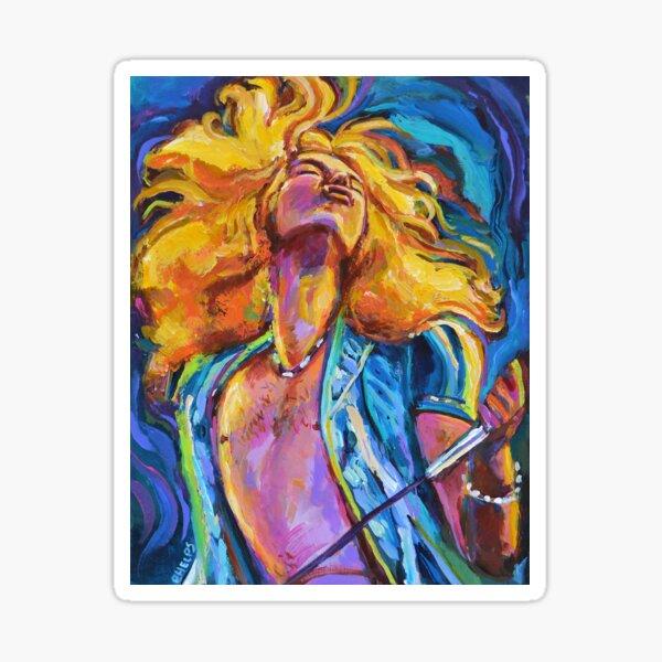 Robert Plant Wild Hair Portrait Sticker