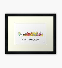 San Francisco, California Skyline WB1 Framed Print