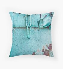 Metallic Turquoise Throw Pillow
