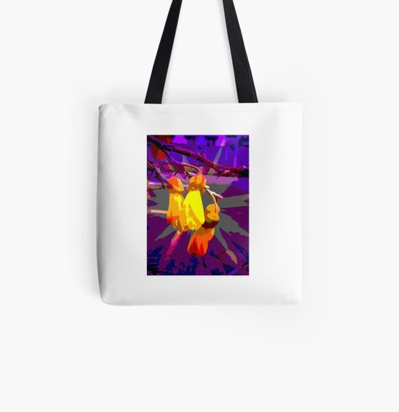 Cool Kowhai Flower All Over Print Tote Bag