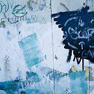Graffiti Blue No.2 by Orla Cahill Photography