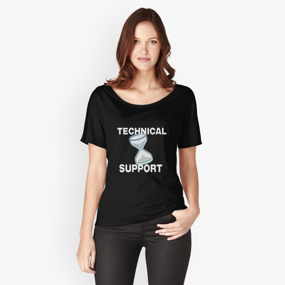 Technical Support with Computer Hourglass Relaxed Fit T-Shirt