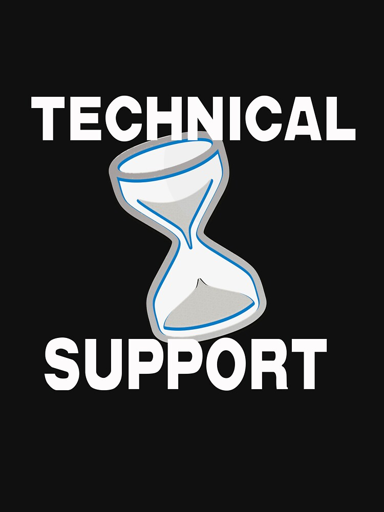 Technical Support with Computer Hourglass by Rightbrainwoman