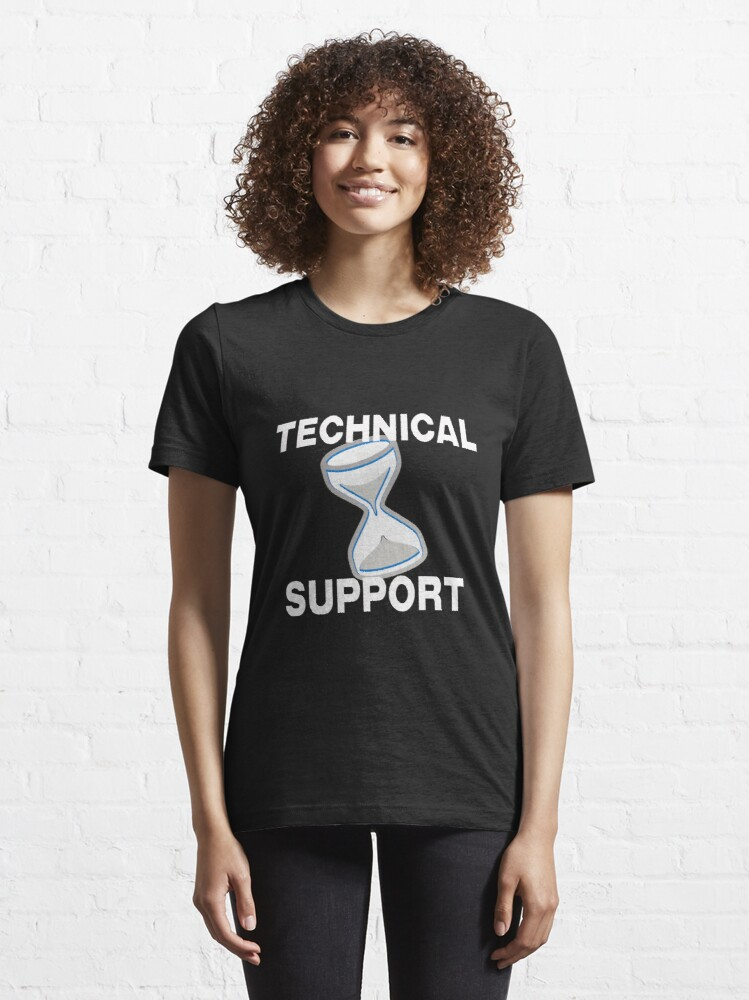 Alternate view of Technical Support with Computer Hourglass Essential T-Shirt
