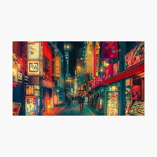 Hive of Wonder - Japan Night Photo Photographic Print