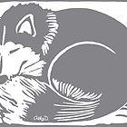 Sleeping Husky by Abigail Davidson