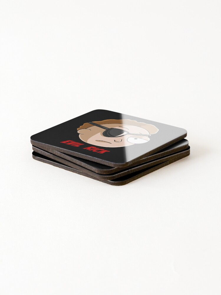 Alternate view of evil Morty Coasters (Set of 4)