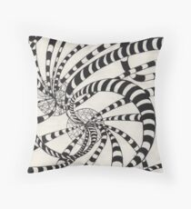 51 - TUBULAR EXPLOSION - DAVE EDWARDS - INK - 1982 Throw Pillow