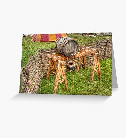 Barrel And Stand Greeting Card
