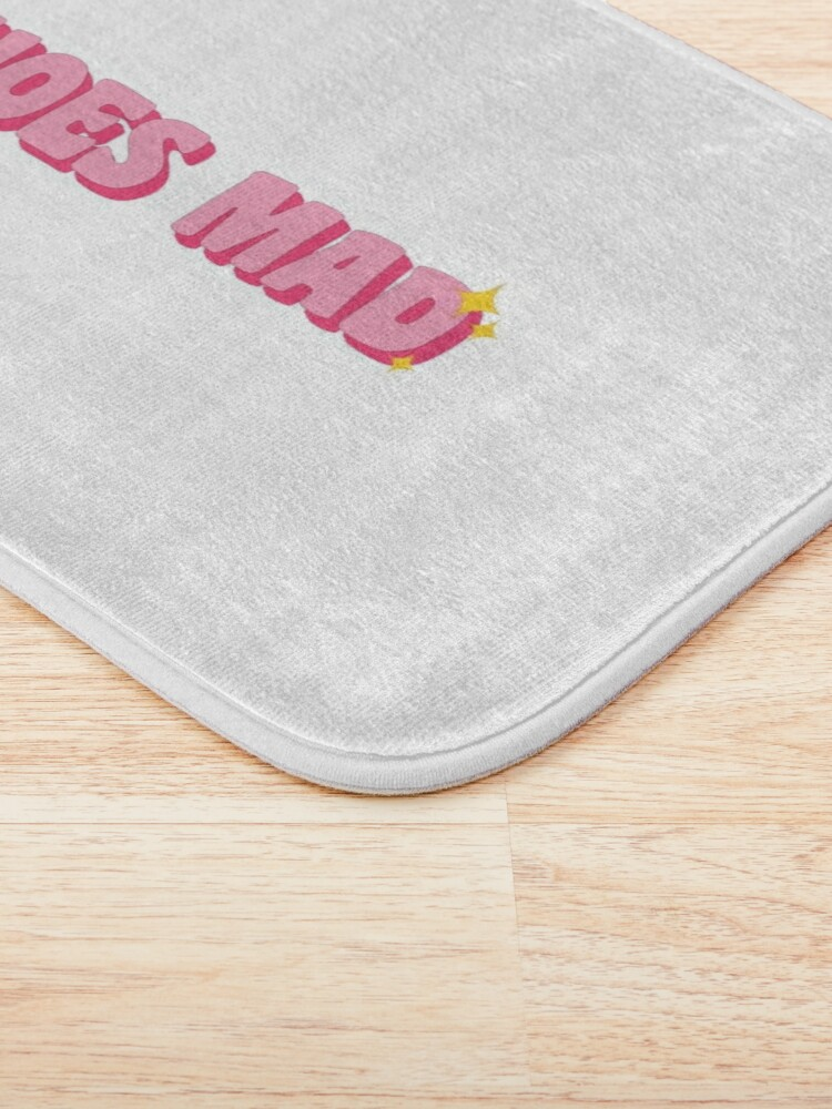 Alternate view of Pink Hoes Mad Sparkles Bath Mat