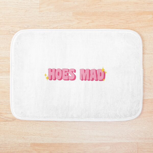 Pink Hoes Mad Sparkles Bath Mat