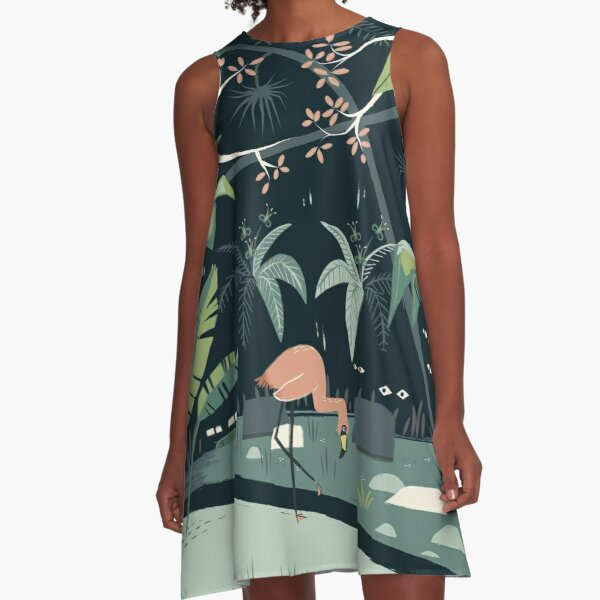 Nightshade Jungle A-Line Dress
