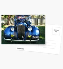 Packard #9 - Blue 1940 Coupe Postcards