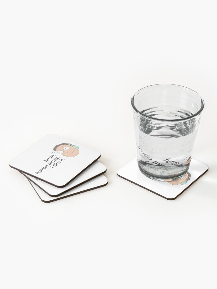 Alternate view of Human music Coasters (Set of 4)