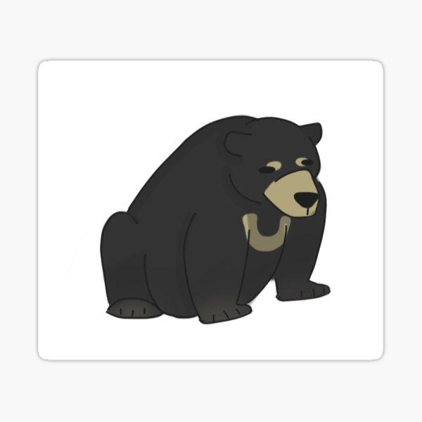 Sun bear sit  Sticker