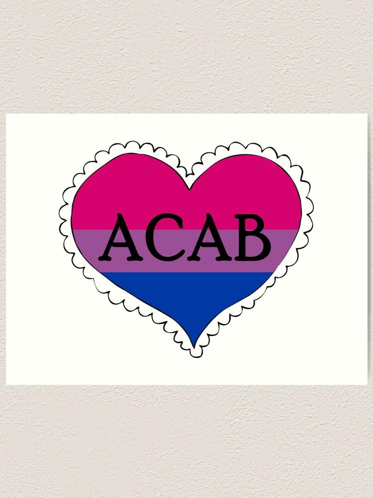 Alternate view of acab bisexual pride flag heart Art Print